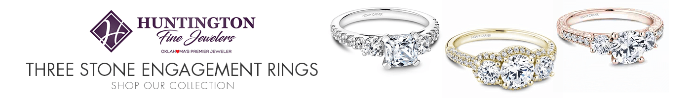Three Stone Engagement Rings at Huntington Fine Jewelers