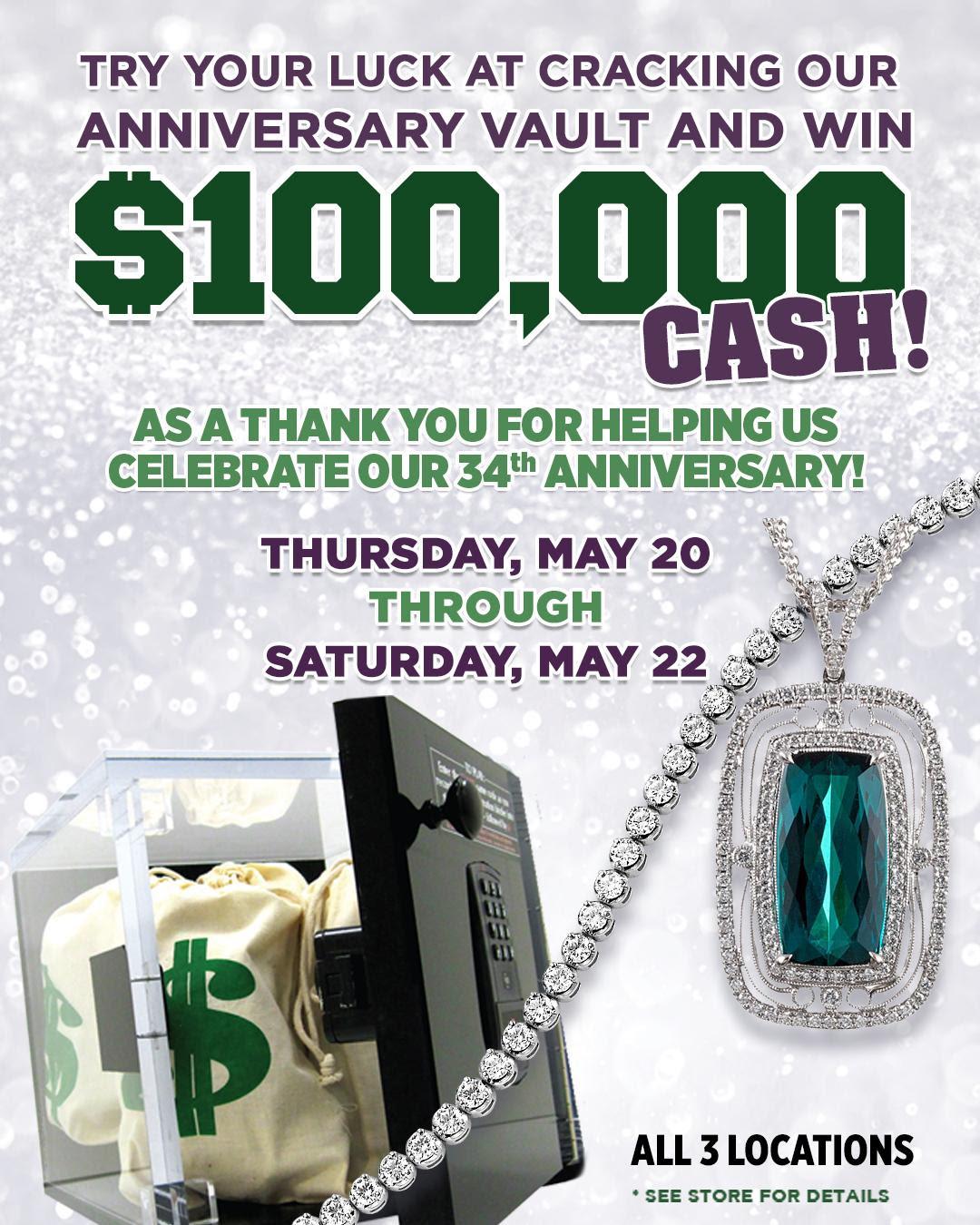 Exclusive 100K Giveaway at Huntington Fine Jewelers